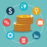 Economic growth design Stock Image