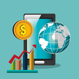 Economic growth design. Illustration eps10 graphic Stock Images