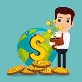 Economic growth design Royalty Free Stock Images
