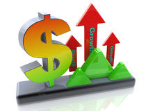 Economic growth of the dollar Stock Photo