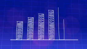 Economic growth graphic chart BLUE 4K stock footage