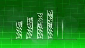 Economic growth graphic chart GREEN 4K stock video