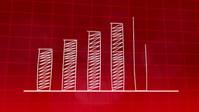 Economic growth graphic chart RED 4K stock video