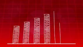 Economic growth graphic chart RED 4K stock footage