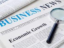 Economic growth headline in newspaper Stock Photos