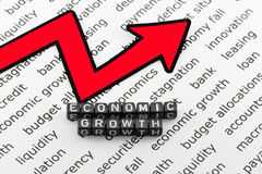 The economic growth. On a white background stock images