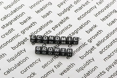The economic growth words