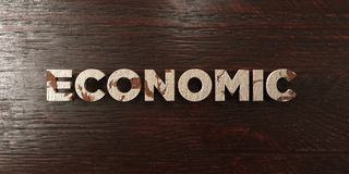 Economic - grungy wooden headline on Maple  - 3D rendered royalty free stock image Stock Images