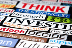 Economic Headlines Stock Photo