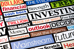 Economic Headlines Stock Images