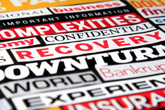 Economic Headlines Royalty Free Stock Photo