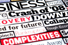 Economic Headlines Royalty Free Stock Image