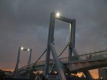 Leça da Palmeira new bridge night view. Royalty Free Stock Photography