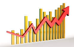 Economic indicators. This picture shows the growth of the economy, and economic growth, it can be used in economy class of advertising campaigns Stock Images