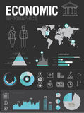 Economic infographic Royalty Free Stock Photos