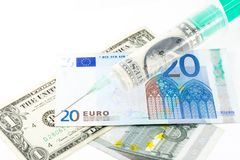 Economic Injection Royalty Free Stock Photography