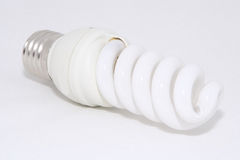 Economic lamp. Lamp; bulb; lighting; power; electricity; bright Royalty Free Stock Photos