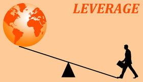 Economic leverage Stock Images