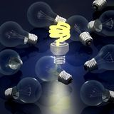 Economic light bulb. Computer render Stock Image