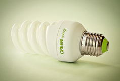 Economic light bulb Royalty Free Stock Photo