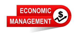 Economic management banner. Icon on isolated white background - vector illustration Royalty Free Stock Images