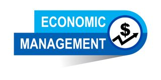 Economic management banner. Icon on isolated white background - vector illustration Royalty Free Stock Photography