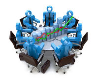 Economic meeting Royalty Free Stock Photo