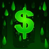 Economic meltdown. Vector background with dripping dollar sign Stock Images
