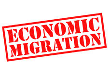 ECONOMIC MIGRATION Royalty Free Stock Photos