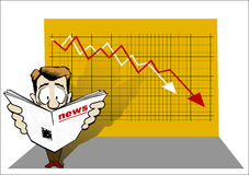 Economic news Stock Photo