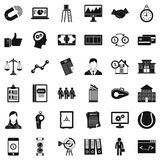 Economic partnership icons set, simple style. Economic partnership icons set. Simple set of 36 economic partnership vector icons for web isolated on white Royalty Free Stock Image
