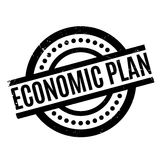 Economic Plan rubber stamp Stock Photography