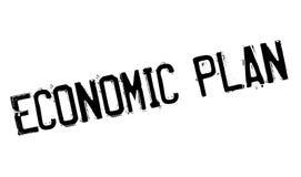 Economic Plan rubber stamp Stock Photo
