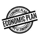 Economic Plan rubber stamp Royalty Free Stock Image