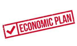Economic Plan rubber stamp Stock Image