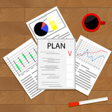Economic planning checklist. Business plan, planning process, schedule and strategic planning. Vector illustration Stock Photography