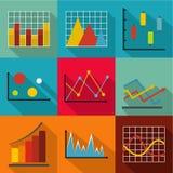 Economic policy icons set, flat style. Economic policy icons set. flat set of 9 economic policy vector icons for web isolated on white background Stock Images