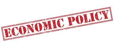 Economic policy red stamp Stock Photos