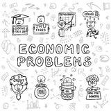 Economic problems set Royalty Free Stock Image