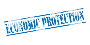 Economic protection blue stamp. Isolated on white background Royalty Free Stock Image
