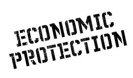 Economic Protection rubber stamp Stock Photography