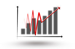 Economic pulse graph. Economic pulse graph business background Stock Images