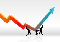 Economic Rebound Growth Stock Image