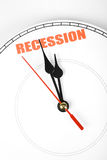 Economic Recession. Clock face, concept of Economic Recession stock images