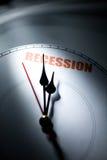 Economic Recession. Clock face, concept of Economic Recession Stock Images