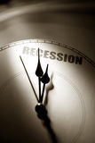 Economic Recession. Clock face, concept of Economic Recession royalty free stock photos