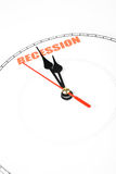 Economic Recession. Clock face, concept of Economic Recession stock photo