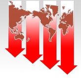 Economic recession Royalty Free Stock Photos
