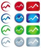 Economic recession graph Stock Photography