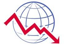 Economic recession graph Royalty Free Stock Photos